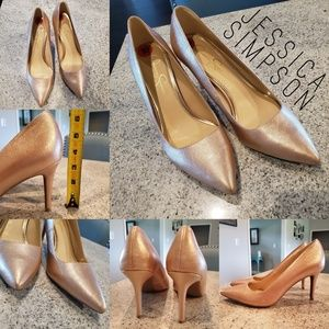 Jessica Simpson Rose Gold Pumps - 3 inch heels